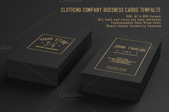 Clothing Company Business Cards