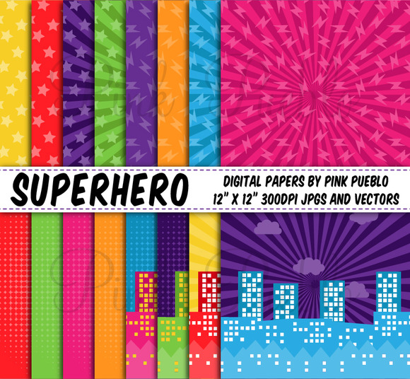 Superhero Backgrounds Or Papers