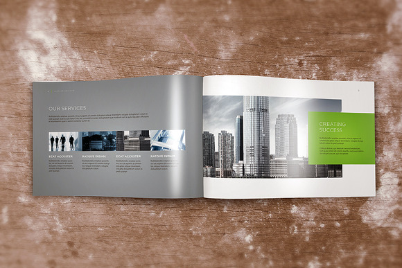 Horizontal A4 Brochure Mock-up