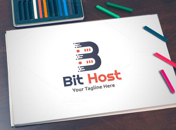 Bit Host Logo Template