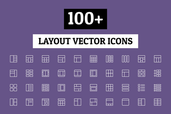 100 Layout Vector Icons