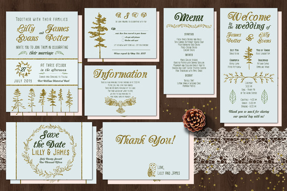 Golden Woodland Wedding Suite