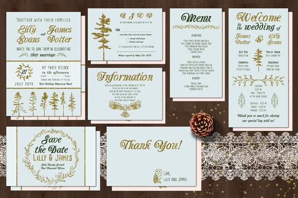 Golden Woodland Wedding Suite