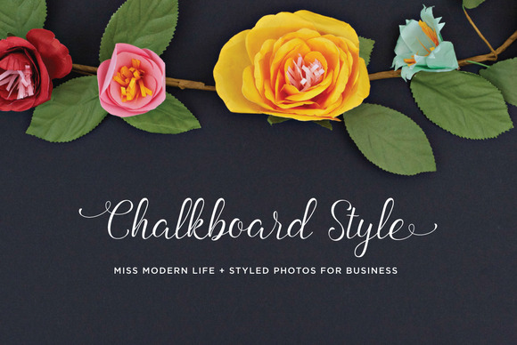 Styled Floral Chalk