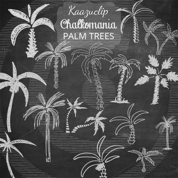 Chalk Palm Trees