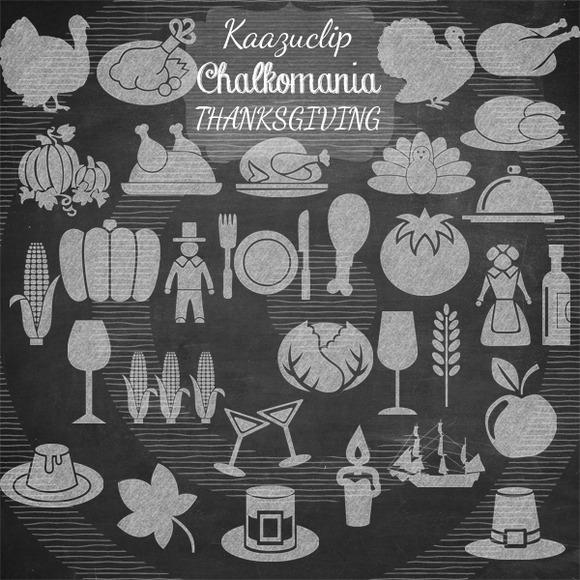 Chalk Thanksgiving Day