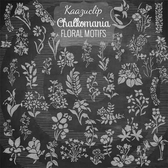 Chalk Floral Motifs Collection