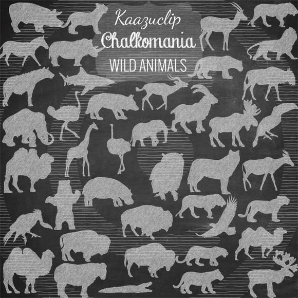 Chalk Wild Animals Collection