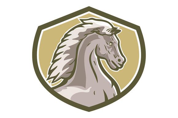 Colt Horse Head Side Shield Retro