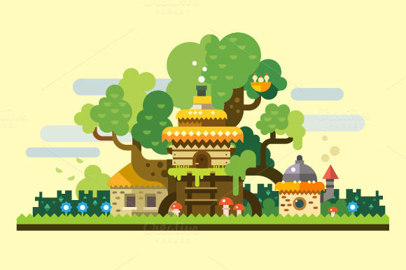 Fantastic Landscape Tree House