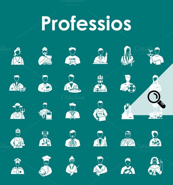 30 PROFESSIONS Simple Icons