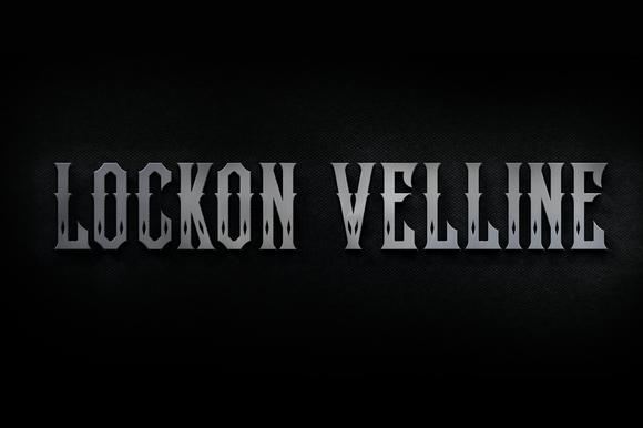 Lockon Velline Font