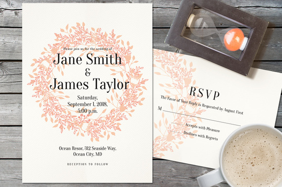 Light Wedding Invitation