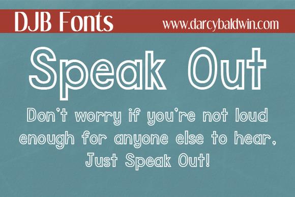 DJB Speak Out Font