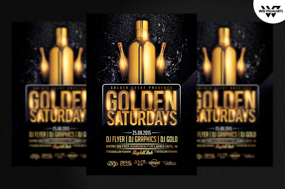 GOLDEN SATURDAYS Flyer Template