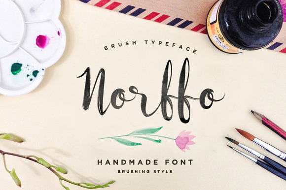 Norffo Font Watercolor Brush