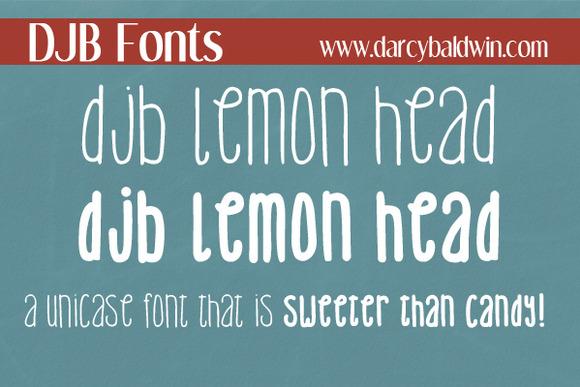 DJB Lemon Head Font