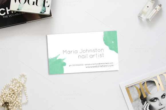 Watercolor 3.5 X 2 Business Card
