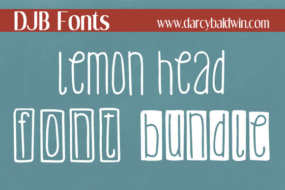 DJB Lemon Head Font Bundle