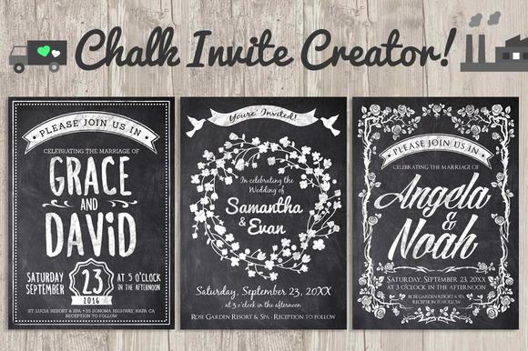 Chalk Invite Creator Bundle