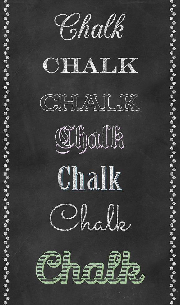 Chalk Photoshop Layer Styles