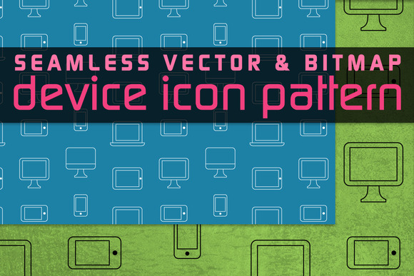 Seamless Device Icon Pattern