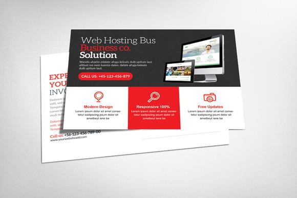 Premium Web Hosting Postcard