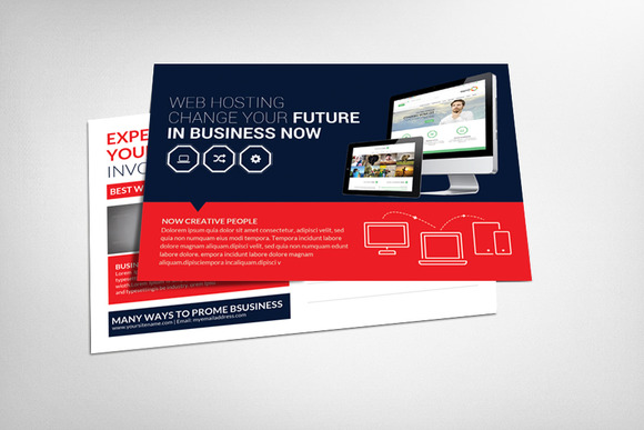 Web Hosting Postcard Template