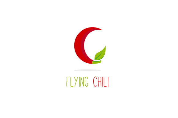 Flying Chili Creative C Letter Logo