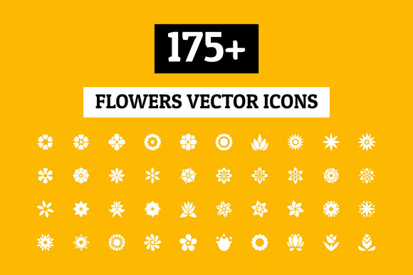175 Flowers Vector Icons