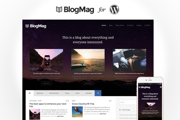 BlogMag Blogging Magazine Theme