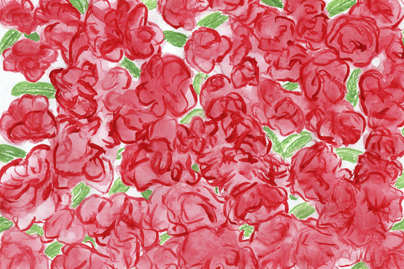 Roses Watercolour Pattern