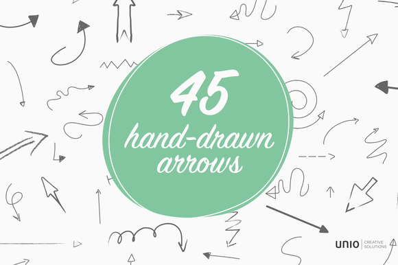 Arrrrr 45 Hand-drawn Arrows