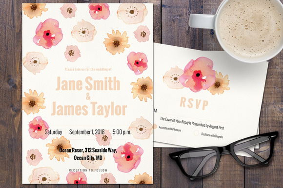 Flowers Wedding Invitation