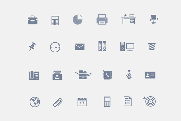 24 Office Icons