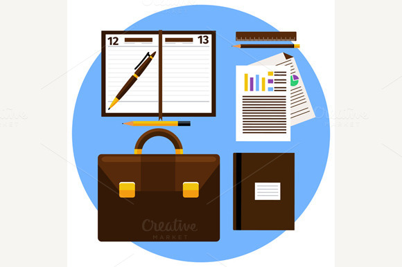 Concept Of Office Object