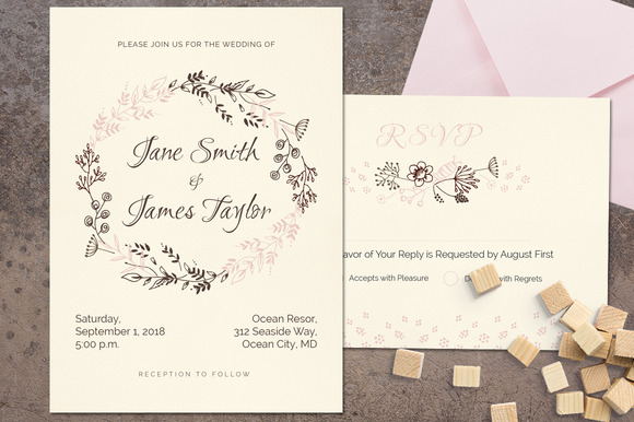 Delicat Wedding Invitation