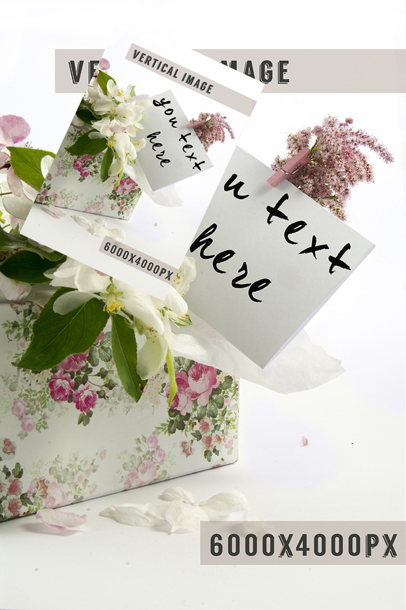 Greeting Card Box Of Flowers Styled