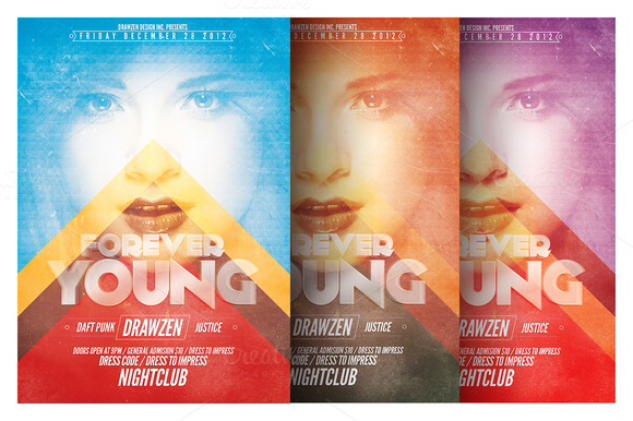 Forever Young Flyer Template