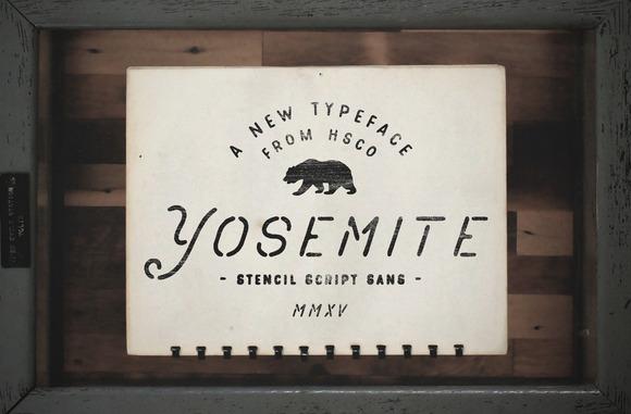Yosemite Unique Stencil Typeface