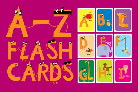 A-Z Flashcards For Babies Toddlers