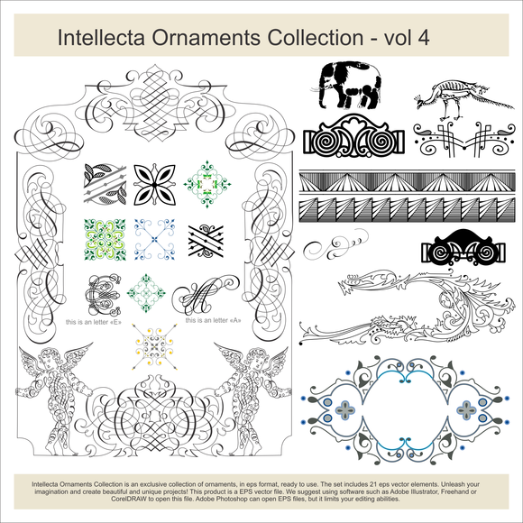 Intellecta Ornaments Collection 4