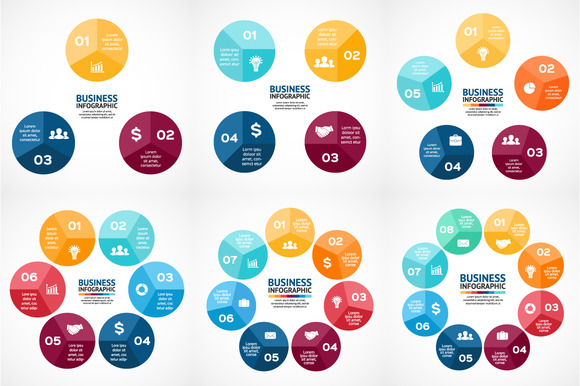 Color Circles For Your Infographic