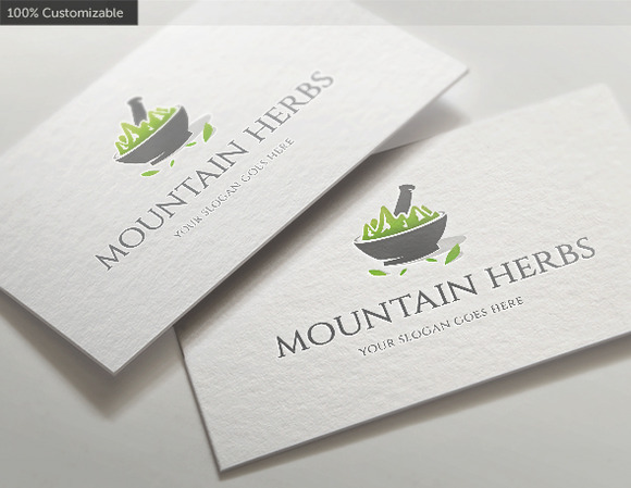 Mountain Herbs Logo Template