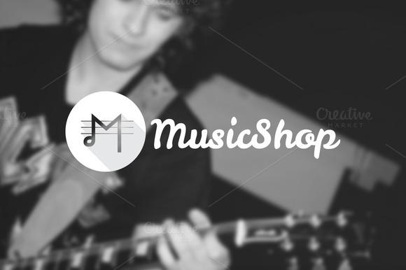 Music Shop Creative M Letter Logo