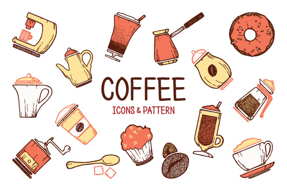 Cooffe Icons Pattern