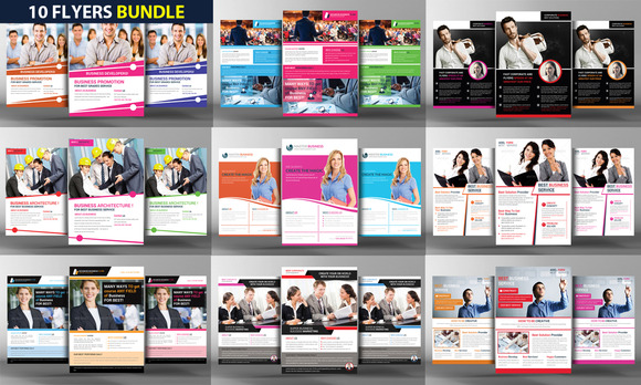 10 Corporate Business Flyers Bundle