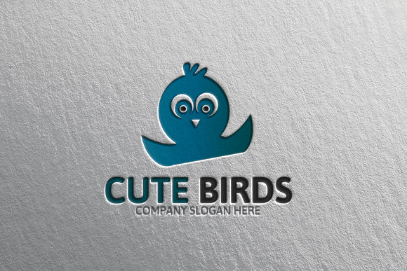 Cute Bird Logo Template