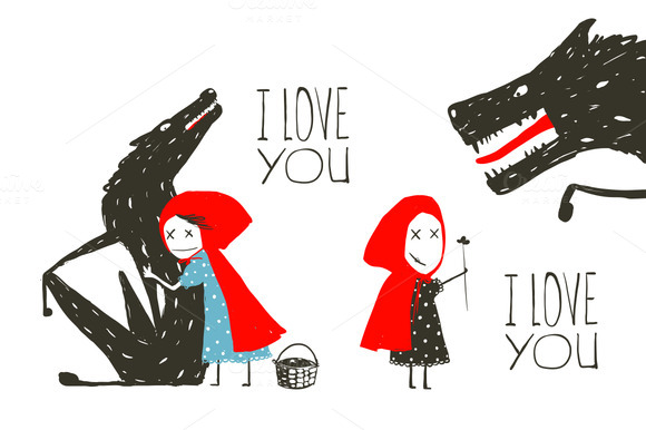 Little Red Riding Hood Loves Wolf
