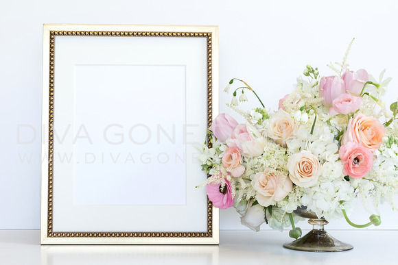 Styled Stock Photo Gold Frame